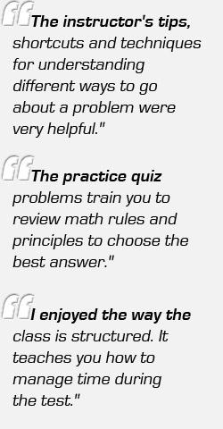 GRE Test Prep Classes Student Comments Button