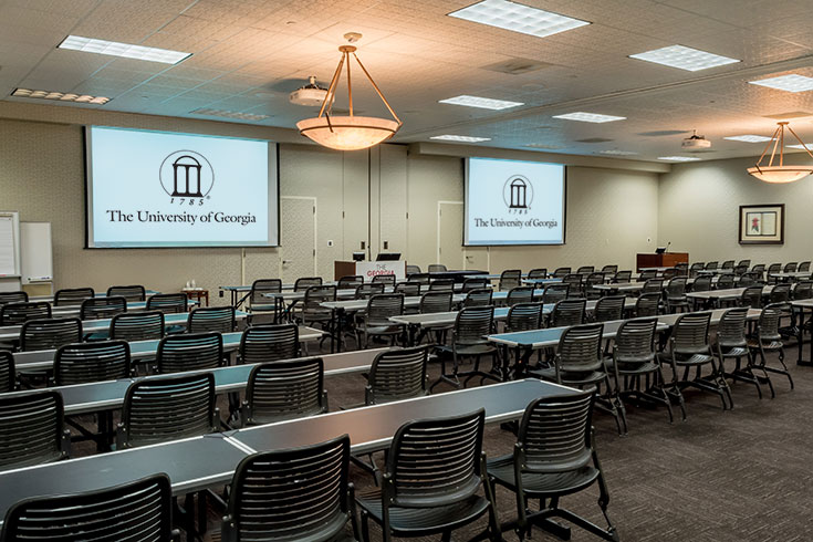 UGA Hotel's conference room options cover 400 to 2,500 square feet