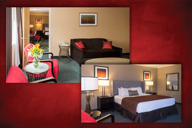 UGA Hotel's Executive King Suite offers a separate parlor