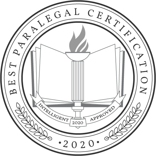 Best Paralegal Certification 2020 Logo