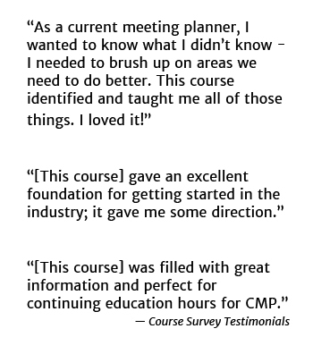 Testimonials for Event and Meeting Planners