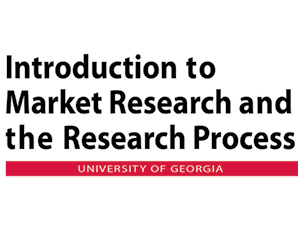 Introduction to Market Research adn the Research Process course at UGA