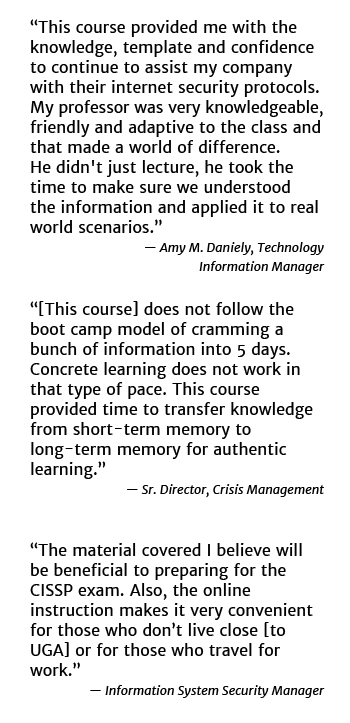 Information Systems Security Professional Certificate Testimonials