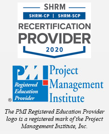 SHRM Rescertification & PMI Logo - PMI Registered Education Provider logo is a registered mark