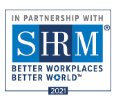 In Partnership with SHRM Better Workplaces Better World logo