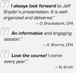 Testimonials for Tax Update Course