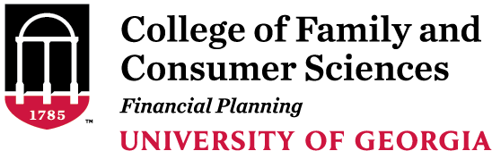 College of Family and Consumer Sciences Financial Planning University of Georgia logo