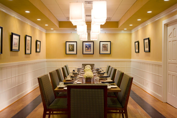 UGA Hotel's President's Dining Room is perfect for small groups