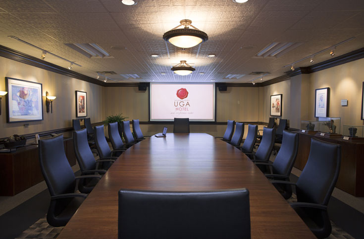 The UGA Hotel and Conference Center has a boardroom for every need