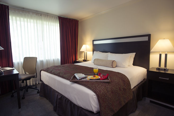 UGA Hotel's Classic King room can accommodate 3 with a rollaway