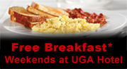 Enjoy the UGA Hotel's weekend breakfast special