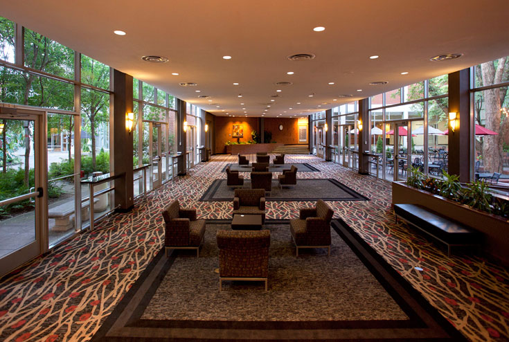 The UGA Hotel and Conference Center features expansive open areas